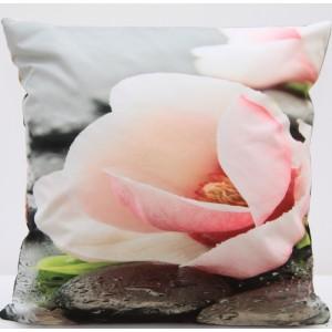 Povlak na polštář s motivem růžového květu příjemná na dotek