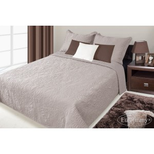 Přehozy na postele hnědé barvy s květinovým potiskem