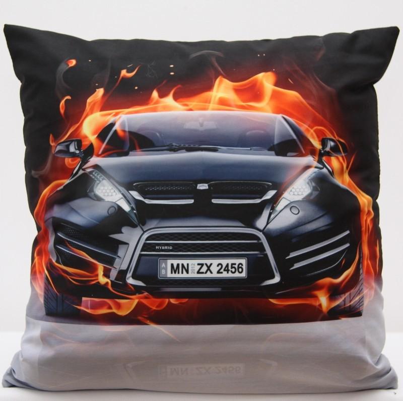Povlak na polštář s motivem auta příjemná na dotek