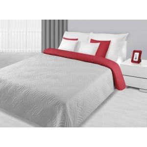 Stříbrný přehoz oboustranný na manželskou postel