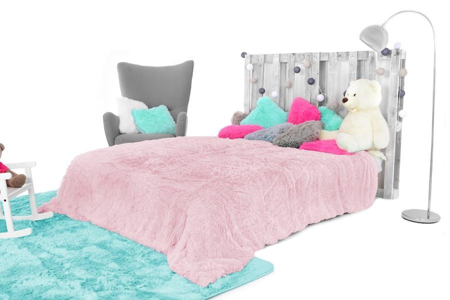 Chlupatá deka ve starorůžové barvě 200 x 220 cm