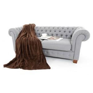 Hnědá hřejivá deka