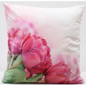 Elegantní povlak na polštář s motivem květu