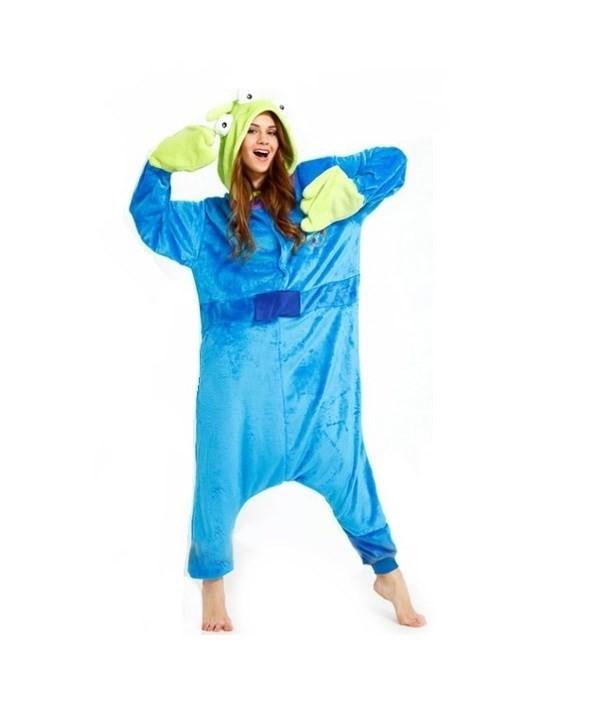 Moderní kigurumi overal na spaní modré barvy ALIEN velikost M