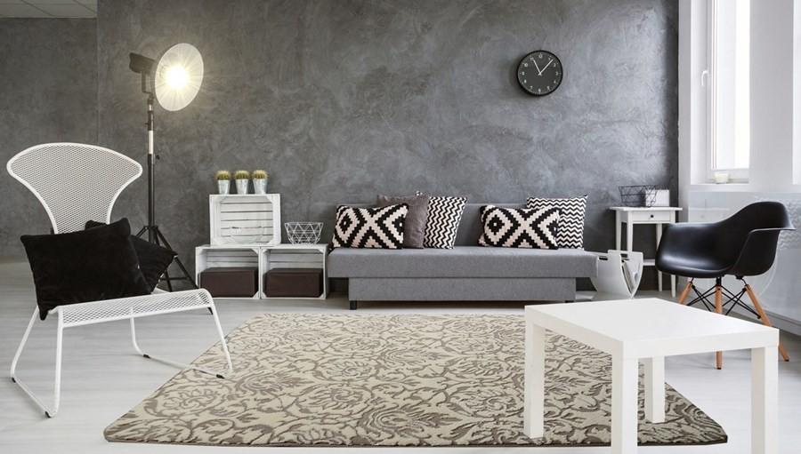 Luxusní koberce v béžové barvě s ornamentem 120 x 170 cm