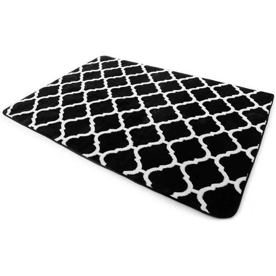 Bytové koberce v černo bílé barvě 120 x 170 cm