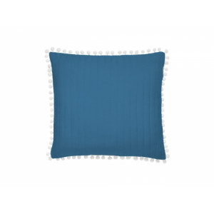Krásný modrý povlak na polštář k přehozu