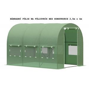 Náhradní fólie bez konstrukce na fóliovník 2,5m x 4m