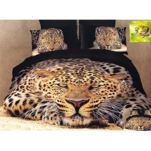 Tmavé povlečení s ležícím leopardem
