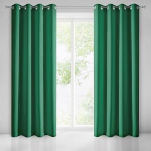 Stylový zelený závěs na okna