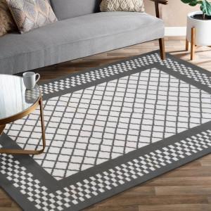 Originální šedý koberec do obýváku