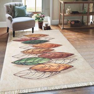 Moderní koberec s motivem listů