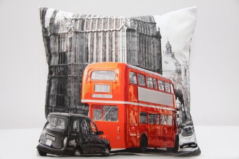 Kvalitní povlak na polštář s motivem Londýna