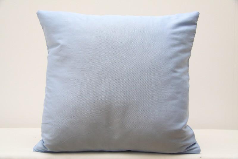 Bavlněný povlak na polštář do pokoje bleděmodré barvy