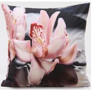 Exkluzivní povlak na polštář s motivem růžového květu