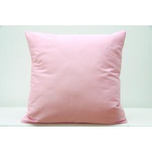 Bavlněný dekorační povlak na polštář ve světle růžové barvě