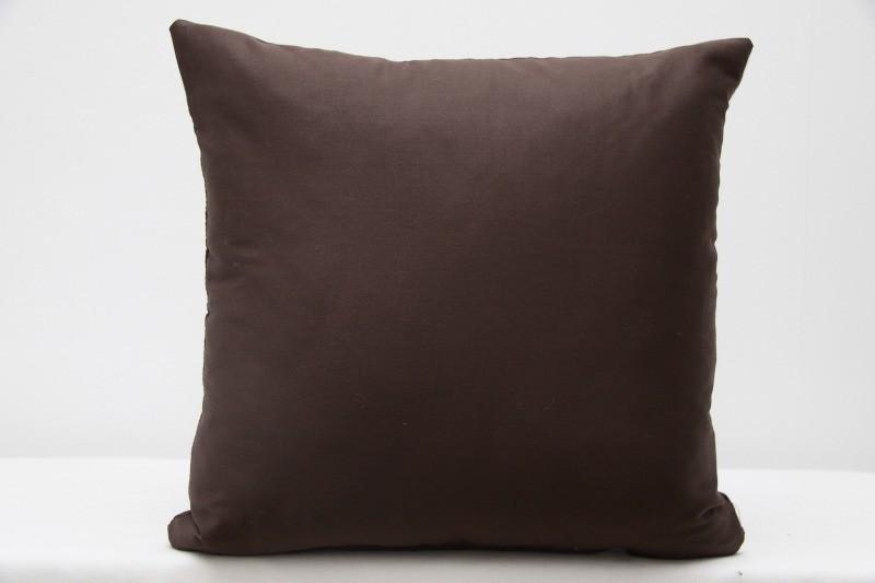 Tmavohnědý povlak na polštář do obýváku 100% bavlna