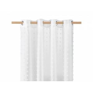 Stylová bílá záclona s kuličkami 140 x 250 cm