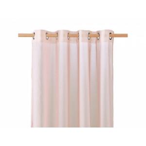 Růžové jednoduché záclony na kruhy 140 x 250 cm