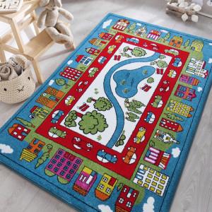 Dětský koberec s motivem města