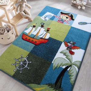 Pirátský koberec do chlapeckého dětského pokoje