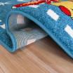 Modrý dětský koberec s autíčky