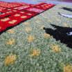 Krásný barevný koberec do dětského pokoje