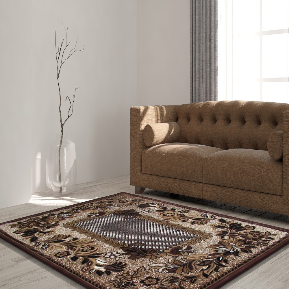 Kvalitní hnědý koberec do obýváku