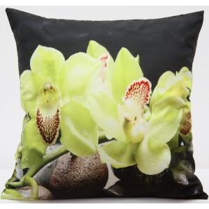 Kvalitní povlak na polštář s motivem žlutá orchidej