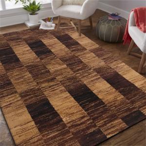 Kvalitní kusový koberec v hnědé barvě