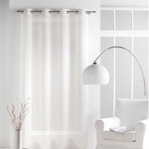 Dlouhá záclona v jemné krémové barvě 140 x 240 cm