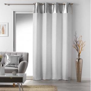 Luxusní závěs se stříbrným vrchem a ornamentem 140 x 240 cm