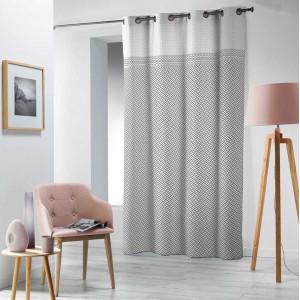 Skandinávský závěs šedě bílé barvy 140 x 240 cm