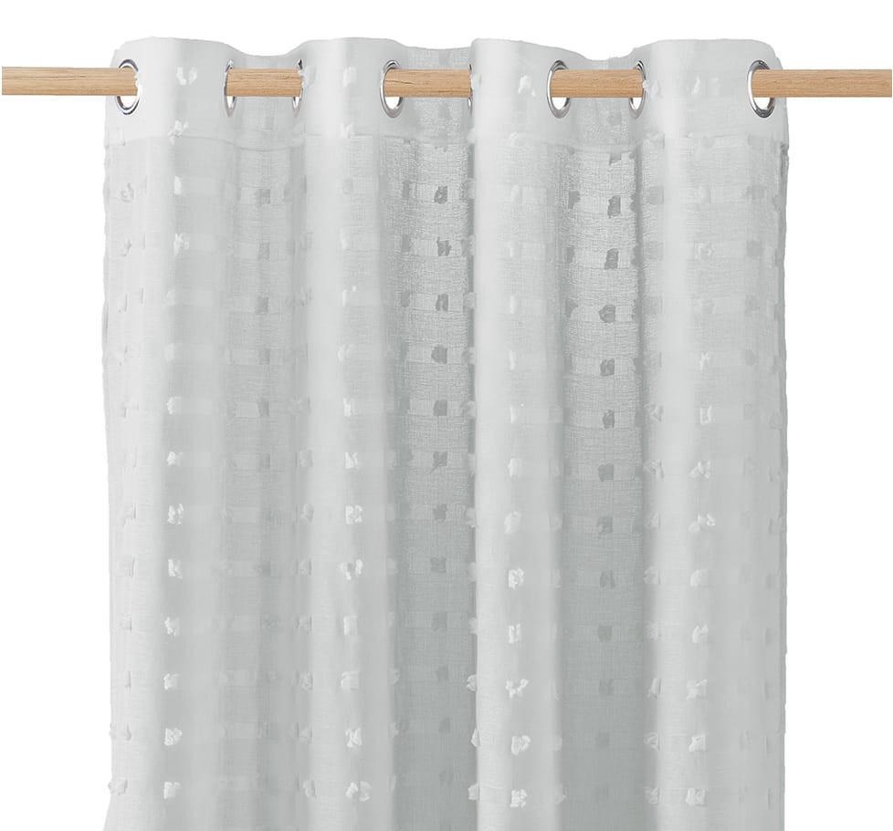 Šedá vzorovaná záclona do pokoje