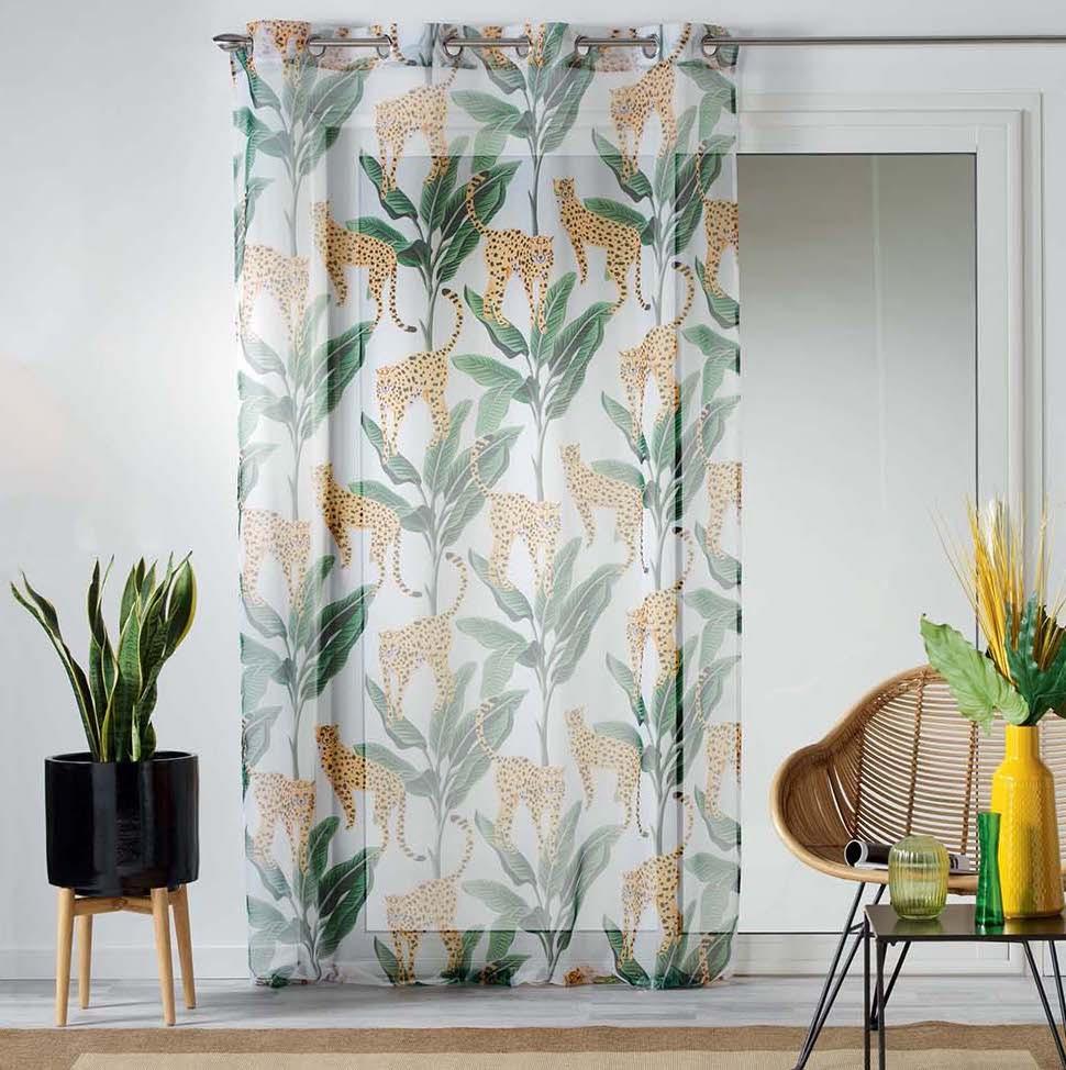 Záclona na okno s motivem džungle 140 x 240 cm