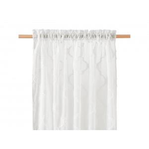 Krémová záclona na okno vhodná do ložnice 140 x 250 cm
