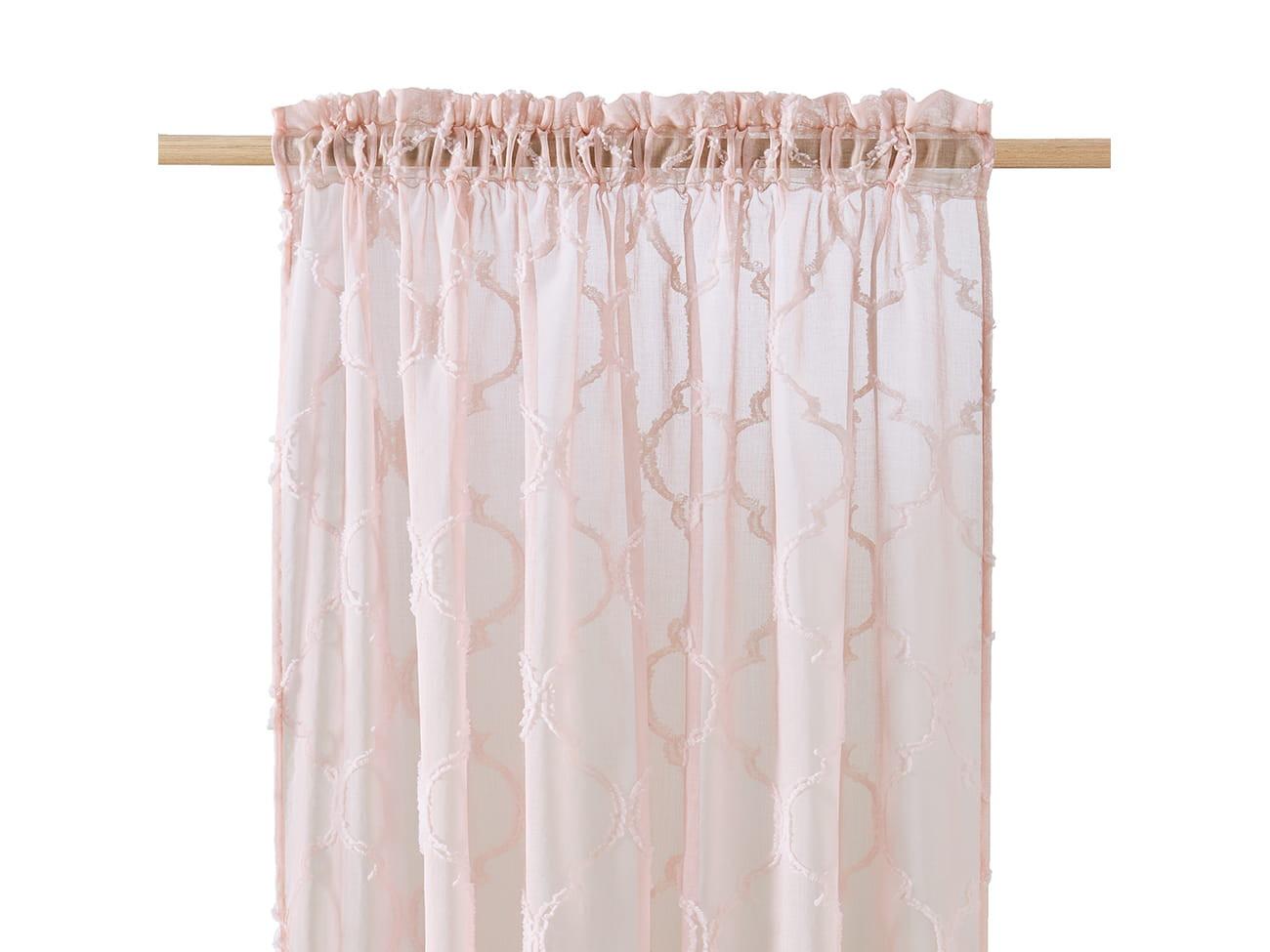 Originální záclona v pudrové barvě do obývacího pokoje 140 x 250 cm