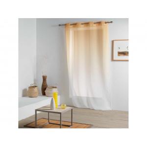Oranžově žlutá ombré hotová záclona na kruhy 140 x 260 cm