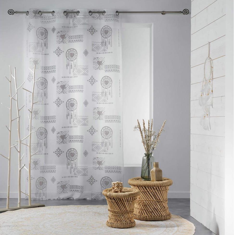 Dlouhá záclona s potiskem 140 x 240 cm