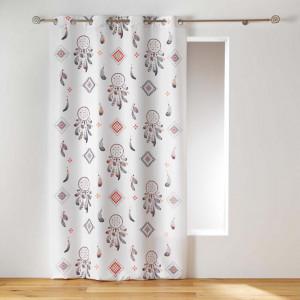 Kvalitní záclona v bílé barvě s lapači snů 140 x 260 cm