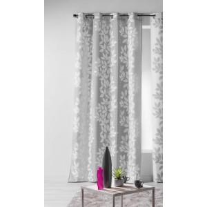 Dlouhé závěsy do ložnice šedé barvy 140 x 260 cm