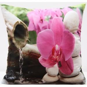 Luxusní povlak na polštář s motivem fialová orchidej