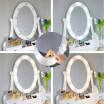 Kvalitní toaletní stolek se zkadlom a LED světýlky