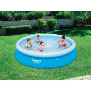 Velký bazén s nafukovacím okrajem na zahradu bez filtrace 366 x 76 cm