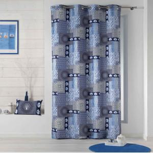 Originální modrý skandinávský závěs 140 x 260 cm