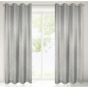 Krásný světle šedý závěs na okno 135 x 250 cm