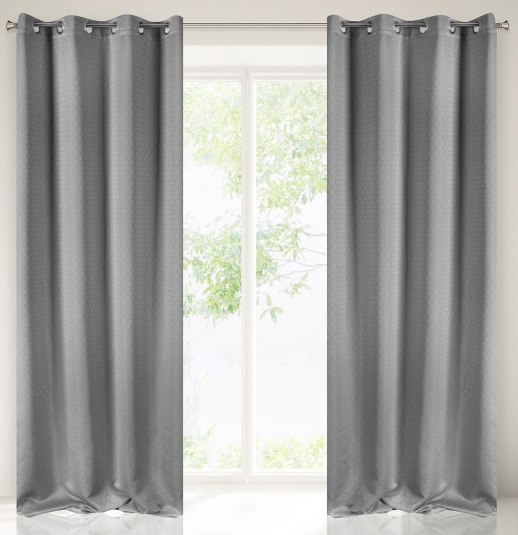 Originální závěs v tmavě šedé barvě 135 x 250 cm