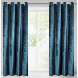 Třpytivý závěs na okno v modré barvě 140 x 250 cm