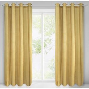 Stylový žlutý závěs na okno 140 x 250 cm