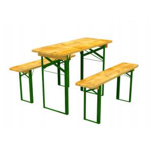 Zahradní nábytek ze dřeva stůl a lavičky 60 x 120 cm